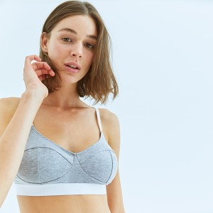 Gray-White Sport Bra