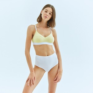 Yellow-White Sport Bra