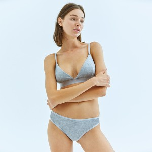Gray Triangle Bra