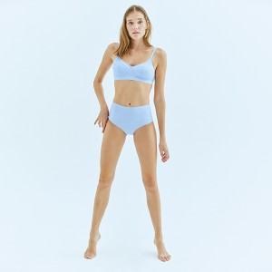 Pale Blue High Waist Bottom