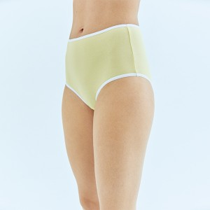 Yellow - White High Waist Bottom